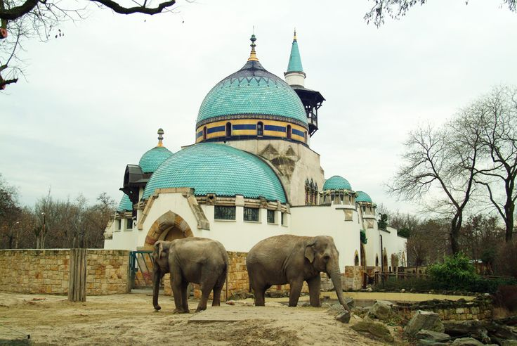 Budapest Zoo | Elephant House with Zsolnay porcelain, roof tiles and ceramics  credit: Budapest Zoo, Bagosi Zoltán  #budapest #zsolnay #porcelain #ceramics #tiles