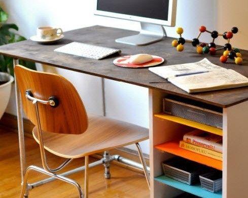 Schreibtisch Selber Bauen Regale Komputer