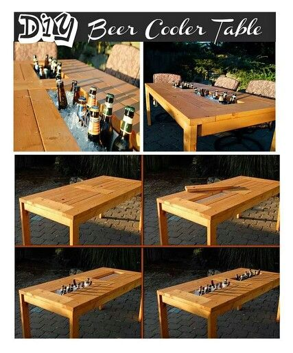 DIY idea for beer cooler table