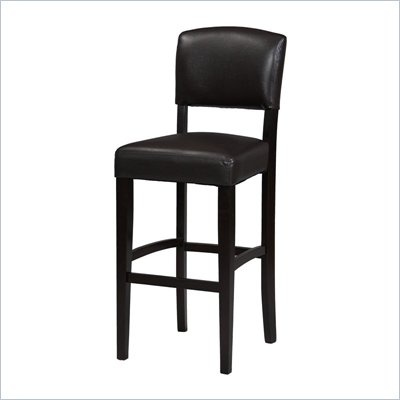 Linon Monaco 24 Inch Counter Stool in Espresso - 0217VESP-01-KD-U