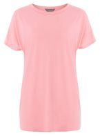 Womens **Tall Pink Relaxed T-Shirt- Pink