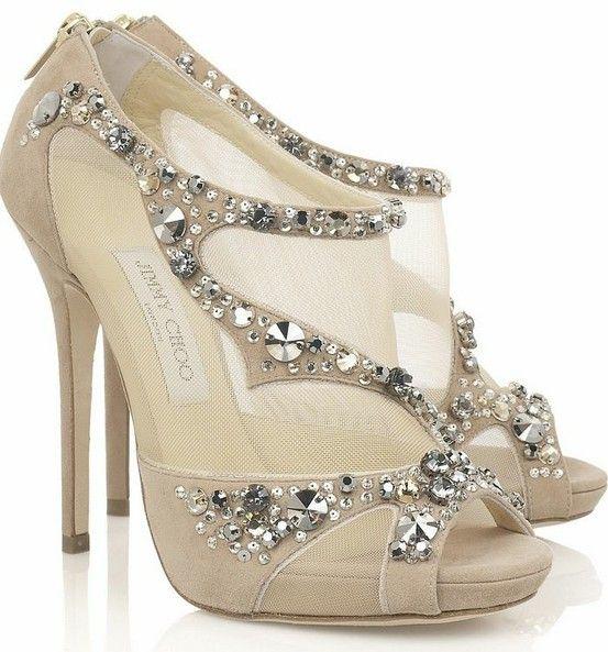 Diamante/ sequin / texture and sparkle idea jimmy-choo-wedding-shoes.jpg (553×593)