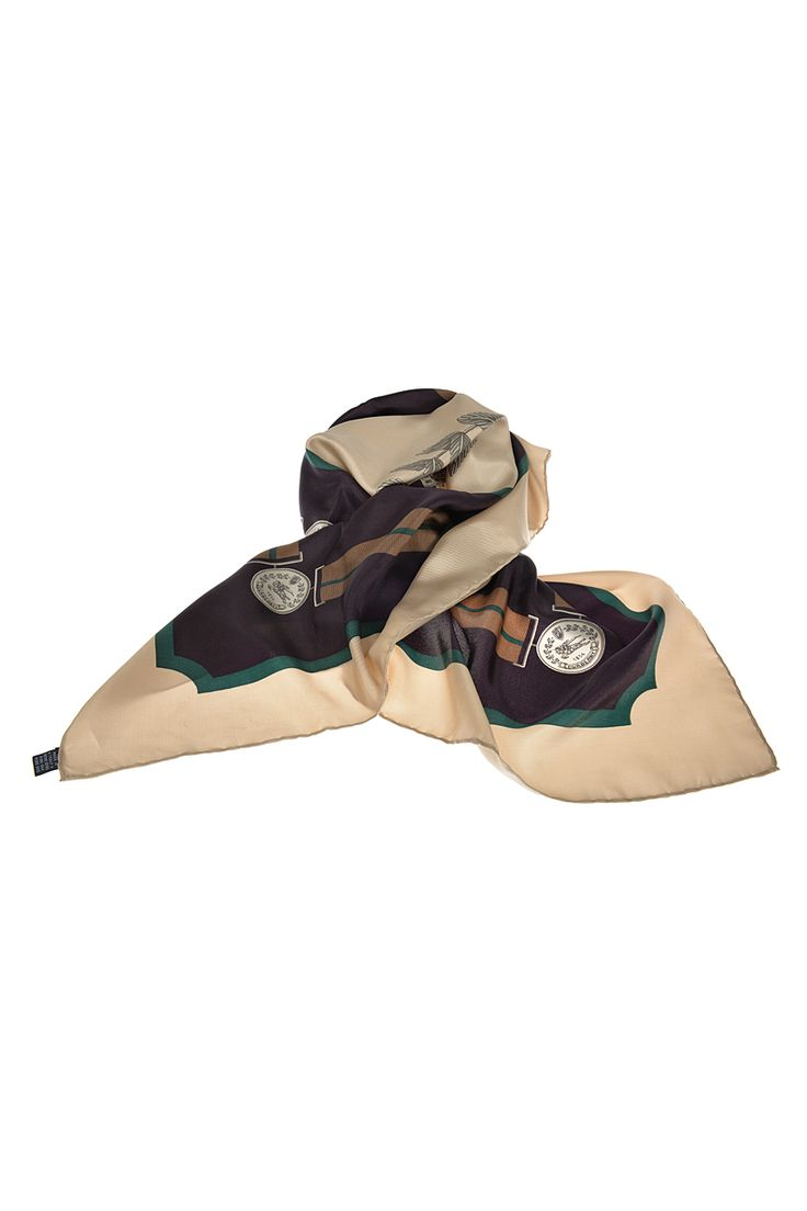 90′lar Burberry's Logolu İpek Vintage Eşarp | AU Vintage