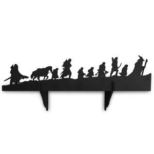 A Lord of The Rings silhouette bookshelf. *-*