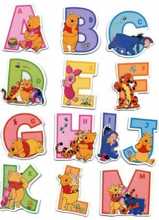 Raised Relief Sticker Set featuring the Adorable Winnie the Pooh and his Pals Helping Your Children Learn the Alphabet 31x48cm