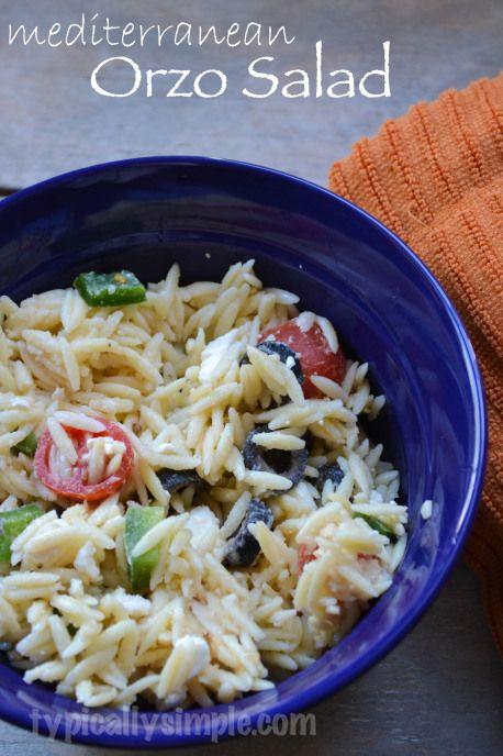 orzo salad orzo salad barbecue recipes mediterranean food super ...