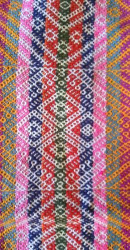 Traditional woven textile from Ausangate, Peru