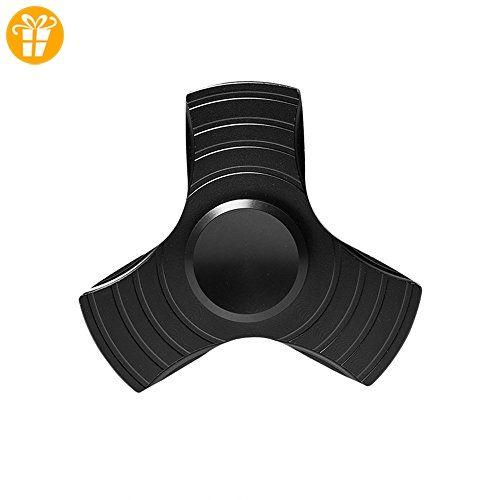 ZOMTOP Tri-Fidget Hand Finger Spinner Metall Spielzeug Zeit Killer für ADD, ADHS, Angst und Autismus Erwachsene Kinder (schwarz) - Fidget spinner (*Partner-Link)