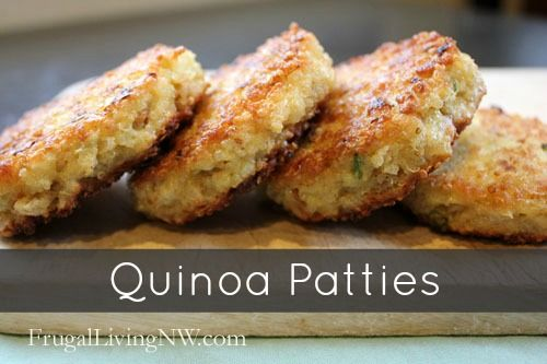 Meatless Menu Idea: Quinoa Patties from FrugalLivingNW.com -- These little patties are amazing and so versatile. They can be made gluten-free, dairy-free but they are definitely not taste-free.