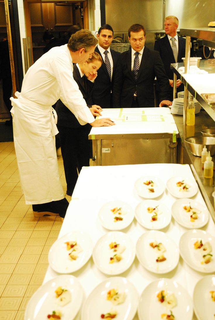 Thomas Keller on the pass at The French Laundry Pop Up