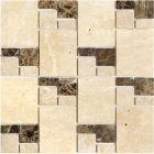 Mozaika Dunin Travertine Tract Mix 90 30.5x30.5 cm