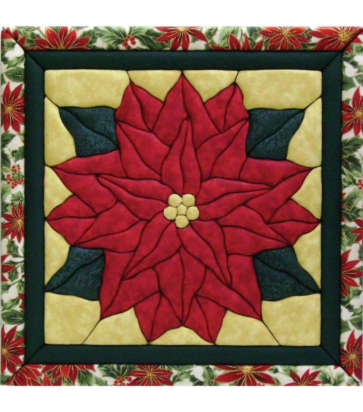"""Poinsettia Quilt Magic Kit-12""""X12"""" More"""