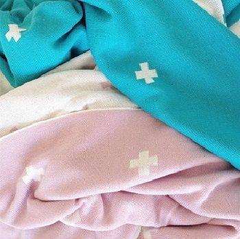 Jamie Kay Cross Blanket Turquoise $99.00 - $199.00 #sweetcreations #baby #toddlers #kids #bedding