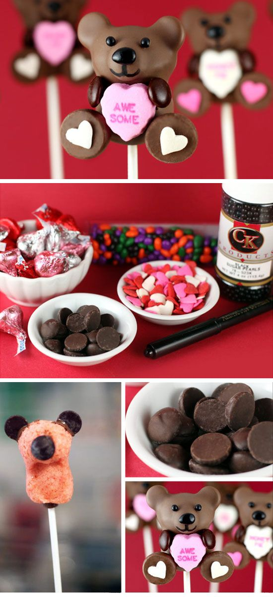 Conversation Heart Cake Pops | Click Pick for 26 DIY Romantic Valentines Day Ideas for Him | Handmade Valentines Day Gift Ideas for Boyfriends