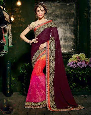 Tikka Saree - Multicolor