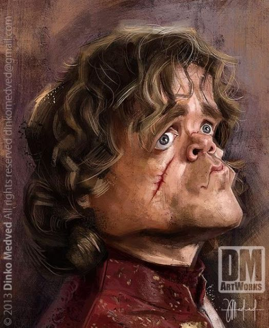 """Caricatura del actor Peter Dinklage de """"Juego de Tronos"""", realizada por el artista Dinko ..."""