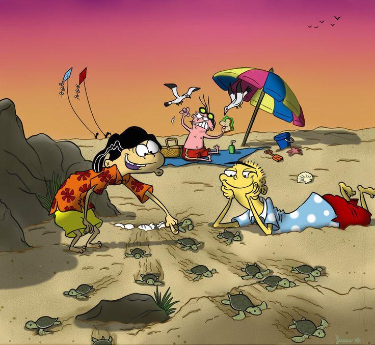Ed, Edd n' Eddy - Ed, Edd/Double D & Eddy - Fanart (The Wildlife wonders of the Beach by Jazzekat on DeviantArt)