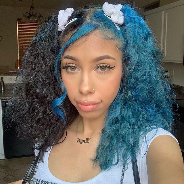 Pin By May On Naiya Split Dyed Hair Dyed Curly Hair Dyed Natural Hair