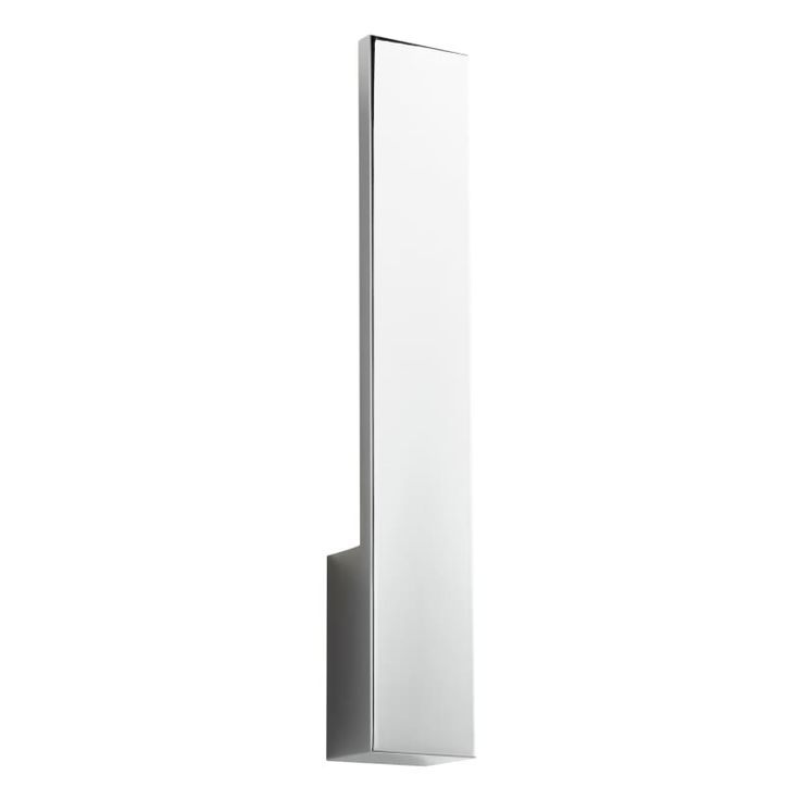 """Oxygen Lighting 37-511 Icon 20"""" Tall 1 Light ADA Commercial 277V LED Wall Sconce Polished Chrome Indoor Lighting Wall Sconces"""