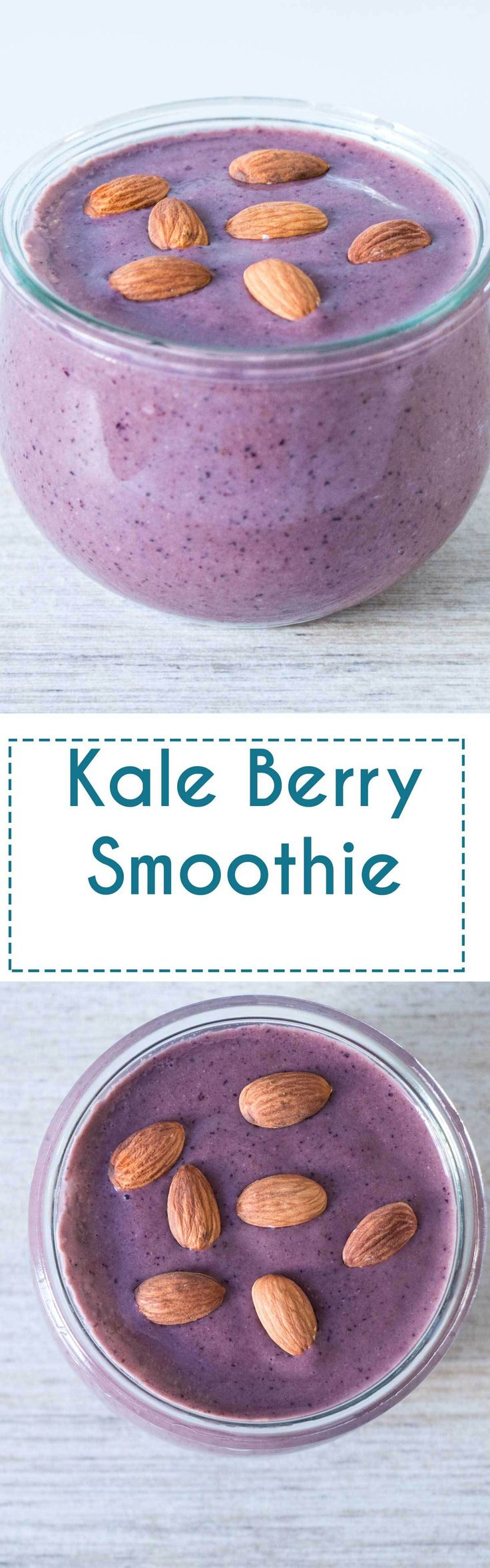 Kale Berry Smoothie - A easy smoothie recipe that is packed with antioxidants and energy boosting ingredients.