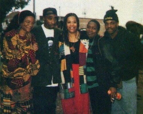 Tupac Shakur,Samaiya Moore, Tupac's mother.. Afeni Shakur, and Mopreme Shakur in San Francisco.