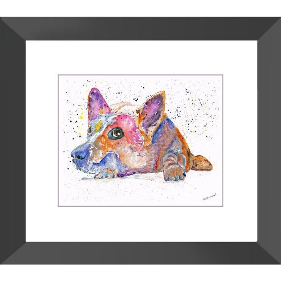 I see you  watercolour painting  custom pet portrait
