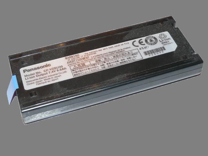 Panasonic Toughbook CF-18 Battery. Model No. CF-VZSU30. OUTPUT 7.4V 6.6Ah. Item is Used Battery. Tested and works for well over 2 - 2.5 hours.   Available for purchase at www.pan-toughbooks.com (+44) 0845-4591657