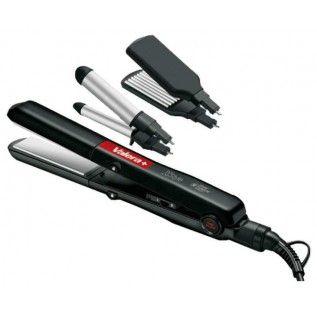 VALERA X-Style 645.01 – Плойка-выпрямитель для волос в наборе  Набор для укладки Valera X-Style  Выпрямитель волос + щипцы для завивки + щип...