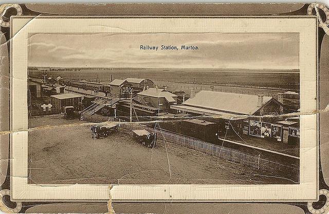 Murtoa Railway Station in 1913.
