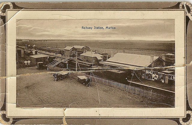 Murtoa Railway Station in 1913.