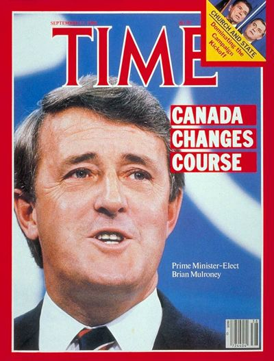 TIME Magazine Cover: Brian Mulroney -- Sep. 17, 1984