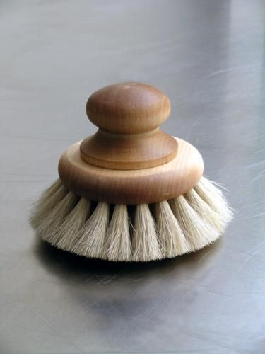 This body brush is designed for brushing and exfoliating the skin, before or during bathing. The wood is oil treated making it durable for use in the bathroom, or as it is made in Sweden in the sauna.