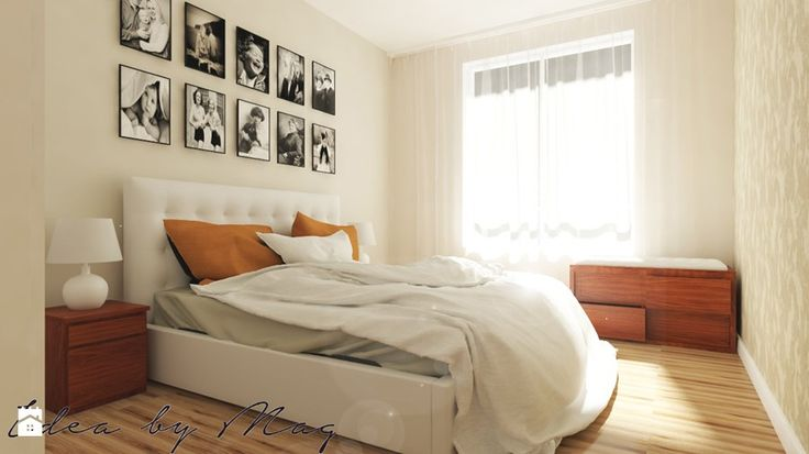 Przytulnie i rodzinnie. - Mała sypialnia małżeńska, styl klasyczny - zdjęcie od IdeabyMag