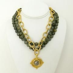 Multi-Strand Genuine Labradorite Necklace  Susan Shaw Necklace from Lauren London  Lauren B Montana