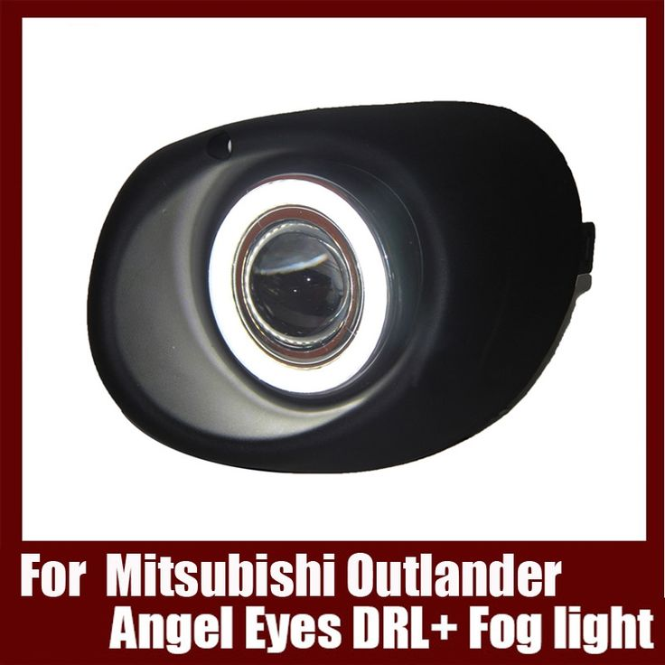 (127.39$)  Watch now - http://aiss5.worlditems.win/all/product.php?id=32791613001 - For Mitsubishi Outlander 2013 COB Angel Eyes DRL with Fog lights Projector Lens Lamp Bumper Cover