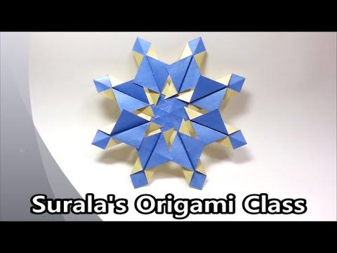 Surala's Origami Class Origami - Snowflake (simple & easy) (flake of snow, Christmas, X-mas, winter, ornament, decoration, for Christmas trees) 종이접기 - 눈꽃 (눈송...