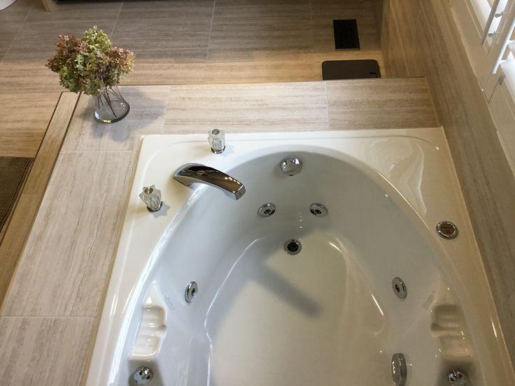 steps to tub