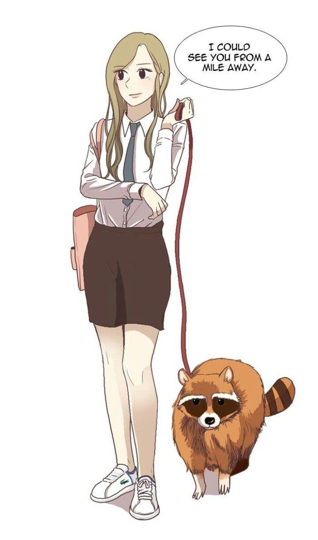 Yuna Has A Pet Raccoon Odd Girl Out Webtoon Comics Pet Raccoon