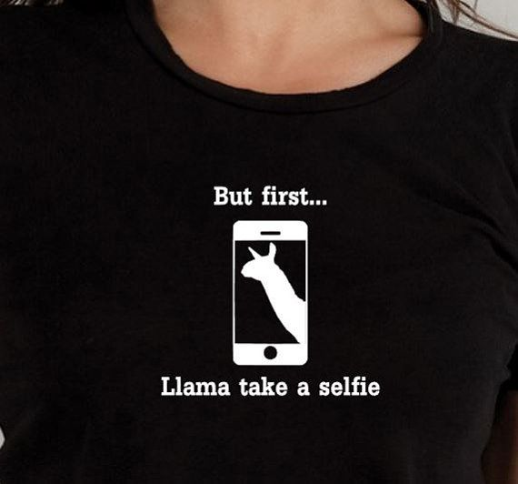 Hey, I found this really awesome Etsy listing at https://www.etsy.com/listing/227755757/llama-selfie-tshirt-funny-tshirt