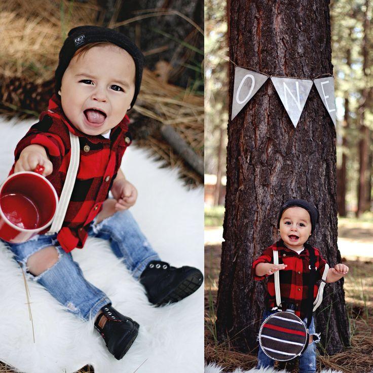 Lumberjack First Birthday Photoshoot