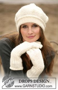 DROPS 98-11 - DROPS Gloves and hat in Alpaca - Free pattern by DROPS Design