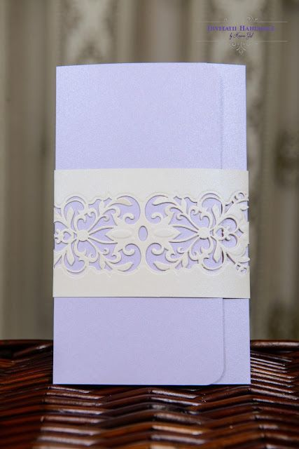 INVITATII HANDMADE: Soft lilac