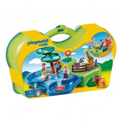 Zoo transportable avec bassins aquatiques réf.6792  PLAYMOBIL®-1.2.3