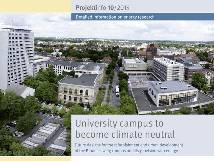 """A research team has created a plan outlining future refurbishment, energy provision and urban development measures for the campus belonging to the Technische Universität Braunschweig. This could enable the primary energy consumption to be reduced by 40% by 2020. The BINE-Projektinfo brochure """"University campus to become climate neutral"""" (10/2015) describes the detailed appraisal of the existing building stock and the planned measures."""