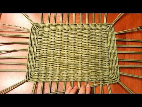 Плетем сундучок (короб) из газет. 1 Часть. Плетение прямоугольного дна! Прямая трансляция! - YouTube