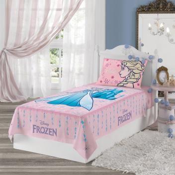 ba941f0674 Lençol Solteiro Infantil 2 peças Estampado Frozen - Lepper - Magazine  Oficione
