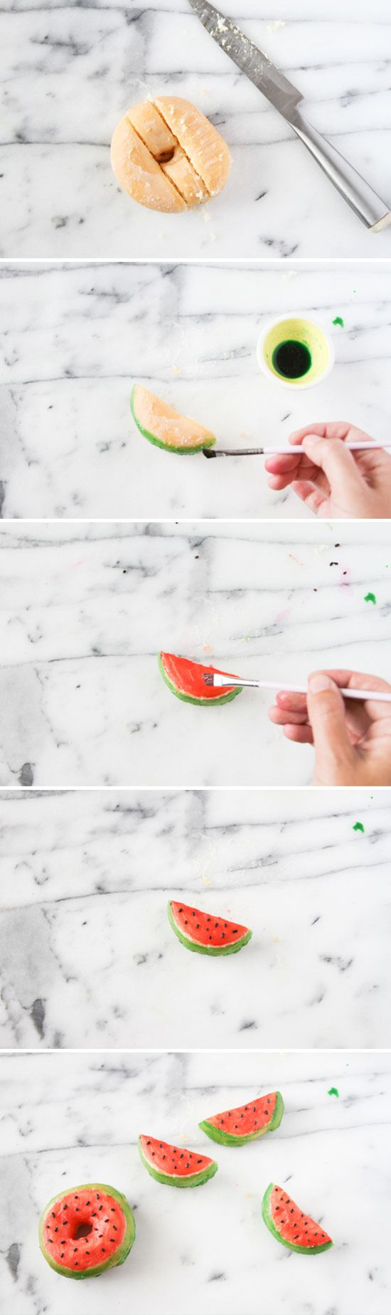 How To Make Watermelon Donuts