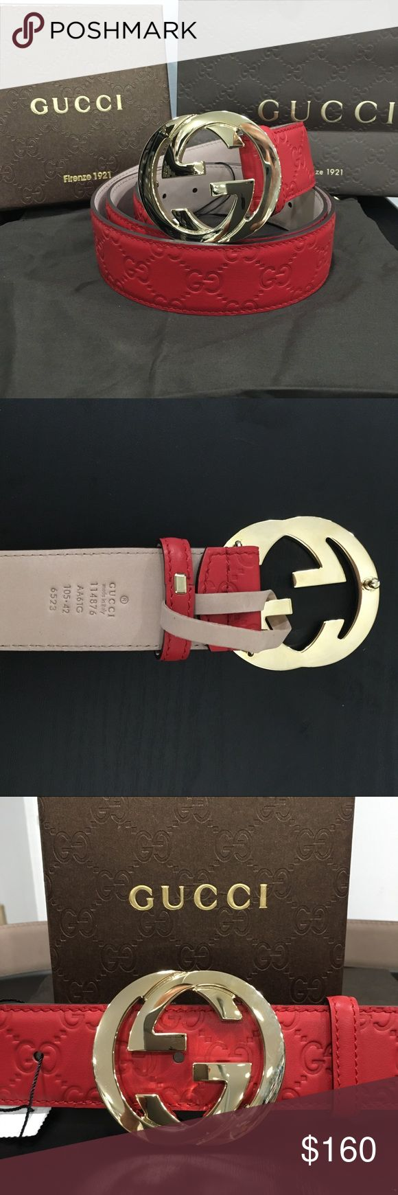 🌟Gucci Men's Red Belt⚡️ Brand new Gucci belt for Men.  Comes with tags, box and dust bag Gucci Accessories Belts