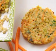Recette - Galettes de blé aux carottes et aux poireaux - Proposée par 750 grammes