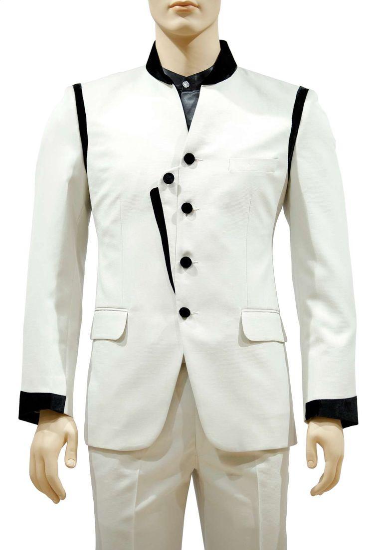 2 Pc Angarkha style cream suit - Suits